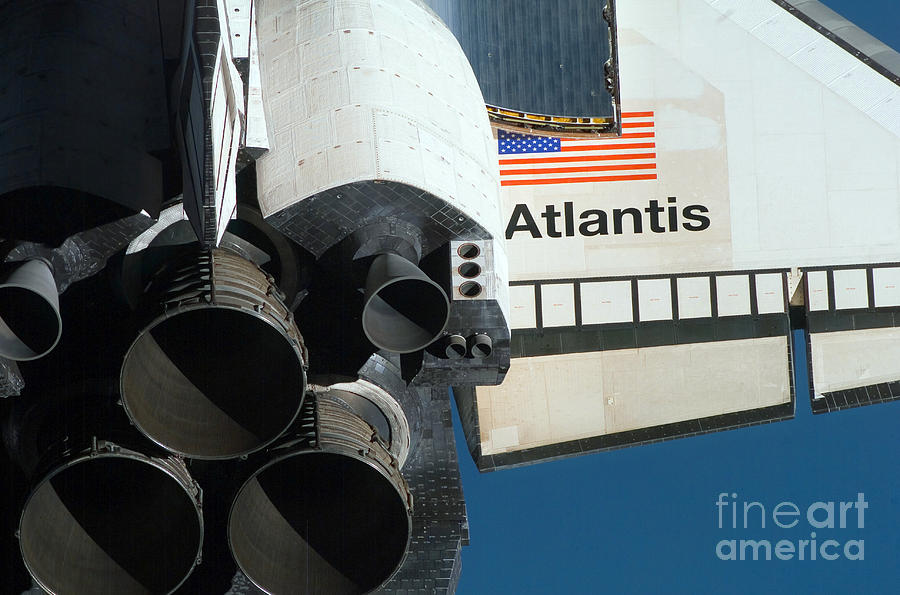 Space Shuttle Atlantis Photograph  - Space Shuttle Atlantis Fine Art Print