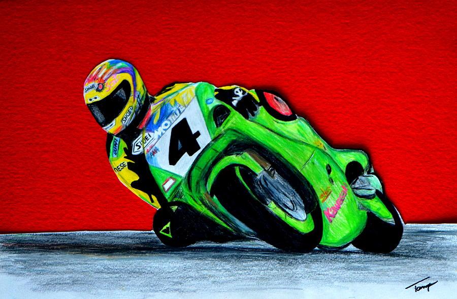 Sportsbike Drawing - Speed Demon...... by Tanya Tanski