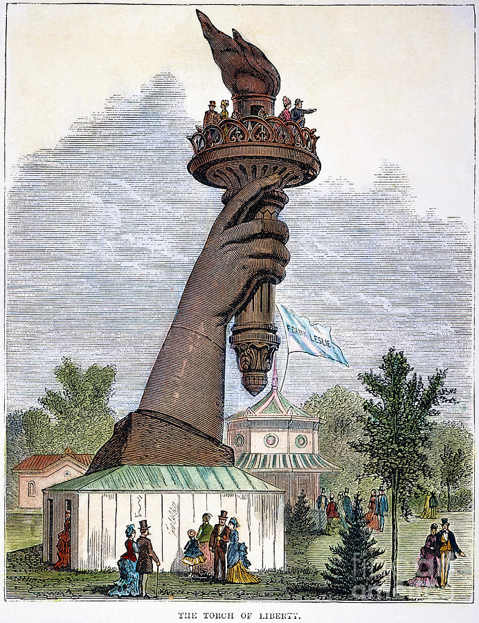 Statue Of Liberty, 1876 Photograph
