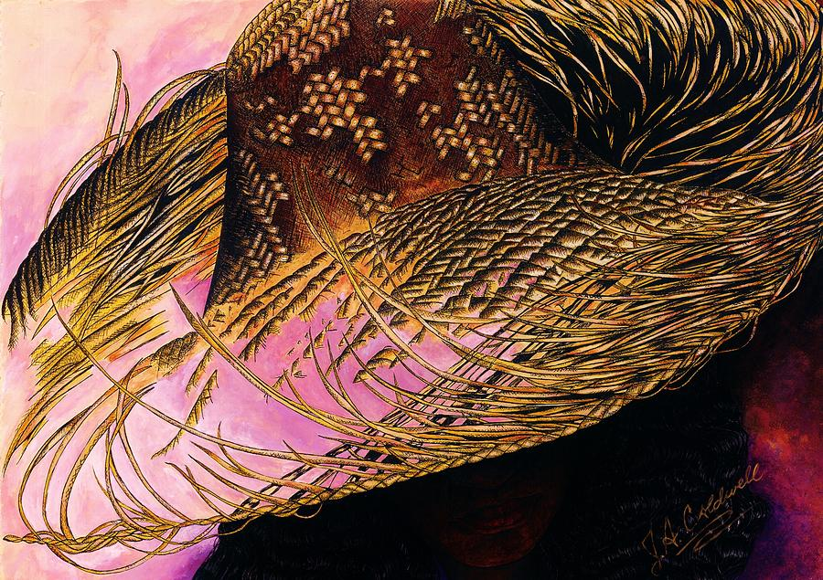 Straw Hat Mixed Media  - Straw Hat Fine Art Print
