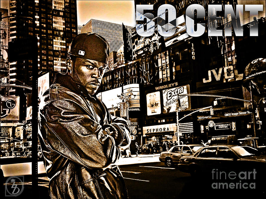 50 Cent Digital Art - Street Phenomenon 50 Cent by The DigArtisT