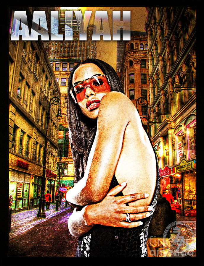 Street Phenomenon Aaliyah Digital Art  - Street Phenomenon Aaliyah Fine Art Print