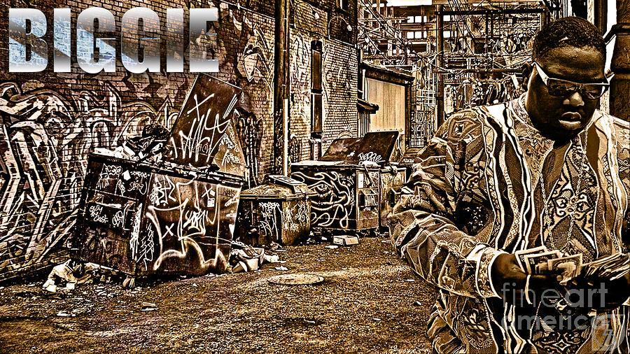 B.i.g Digital Art - Street Phenomenon Biggie by The DigArtisT