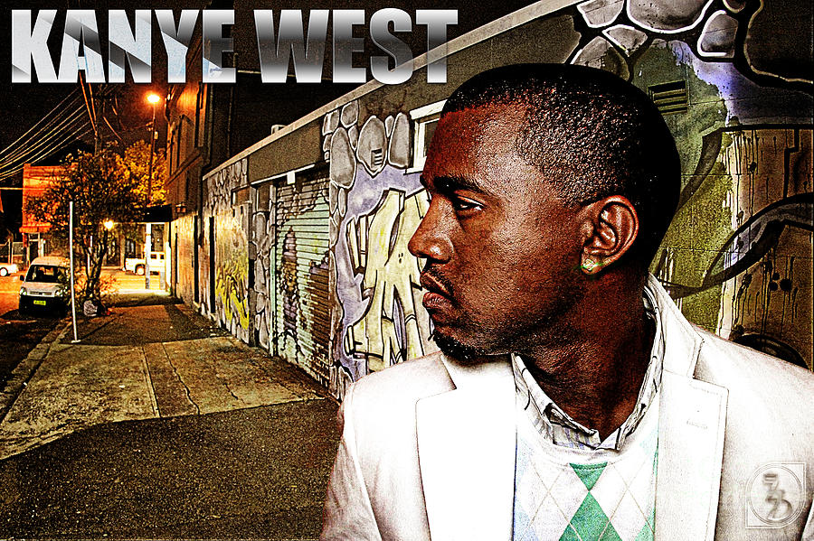 Street Phenomenon Kanye West Digital Art  - Street Phenomenon Kanye West Fine Art Print
