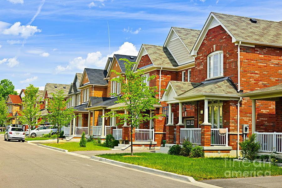 Suburban Homes Photograph