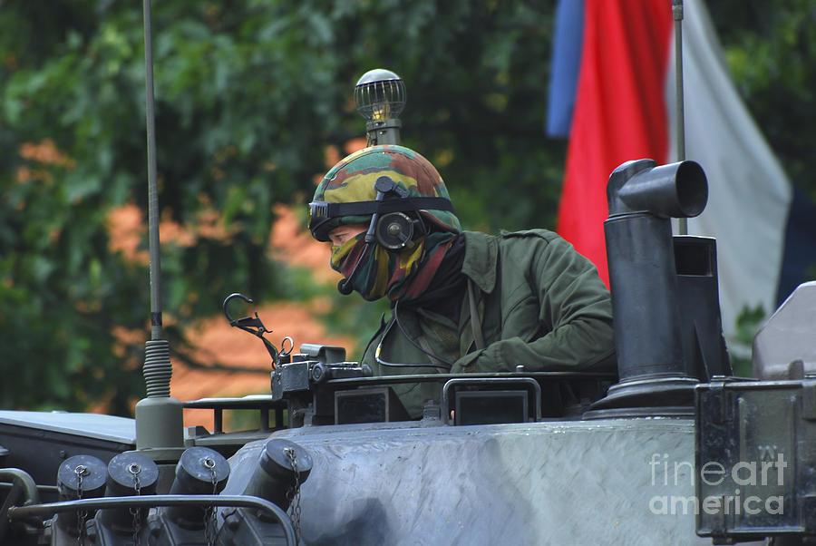 Tank Commander Of A Leopard 1a5 Mbt Photograph