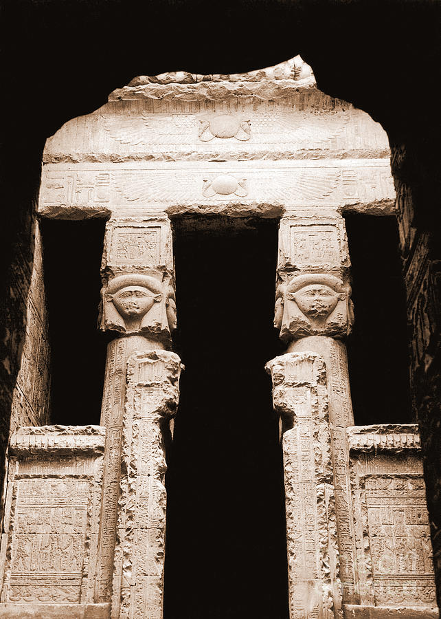 Temple Photograph - Temple Of Hathor by Photo Researchers, Inc.