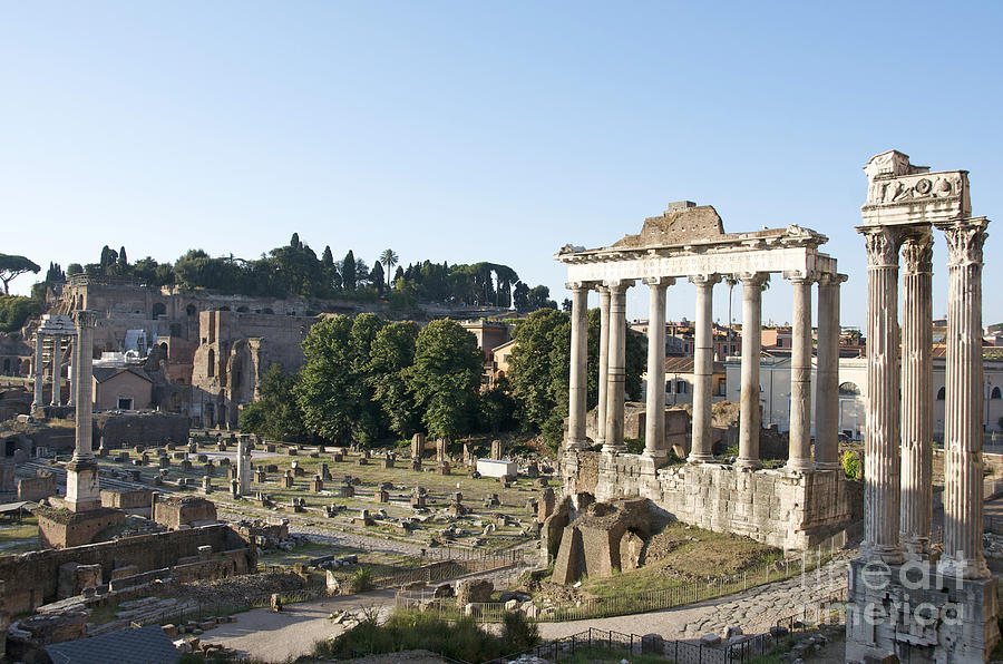 Temple Of Saturn In The Forum Romanum. Rome Photograph  - Temple Of Saturn In The Forum Romanum. Rome Fine Art Print