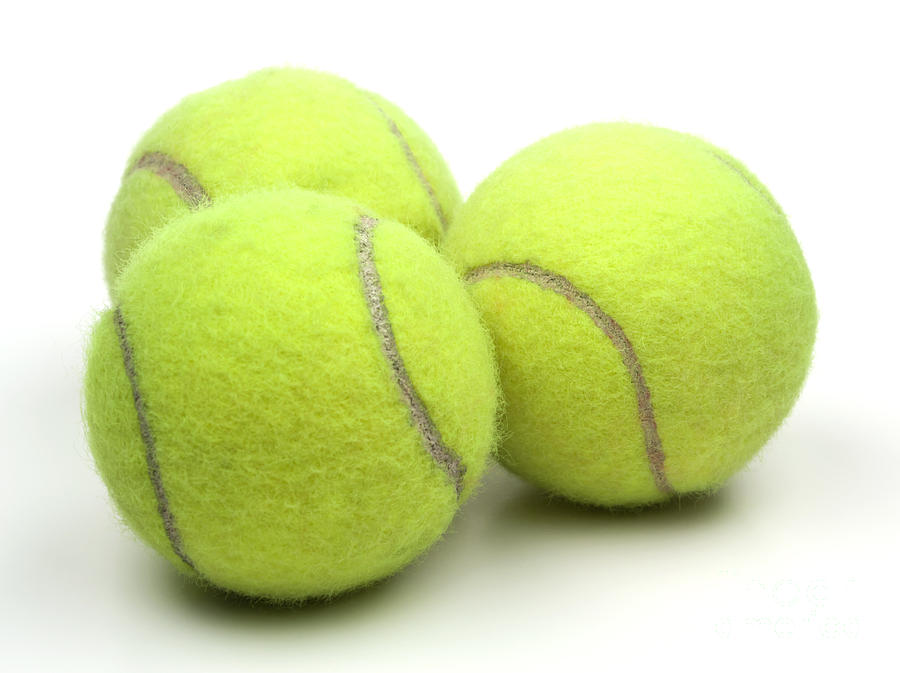 Tennis Ball Photograph - Tennis Balls by Blink Images