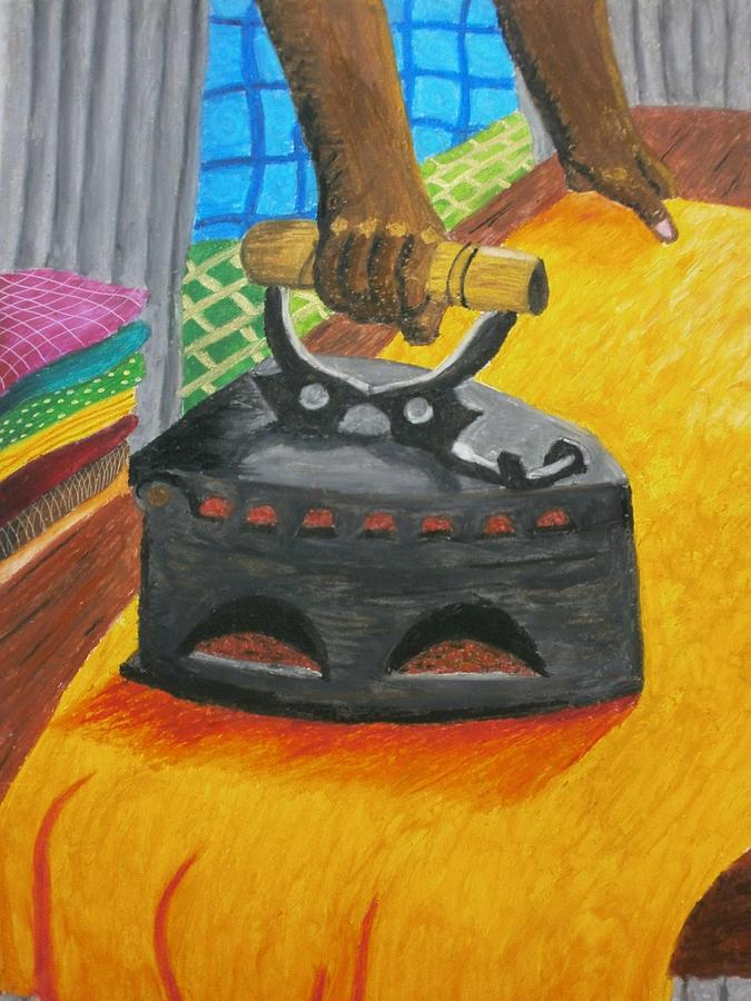 The Dhobis Iron  Painting  - The Dhobis Iron  Fine Art Print