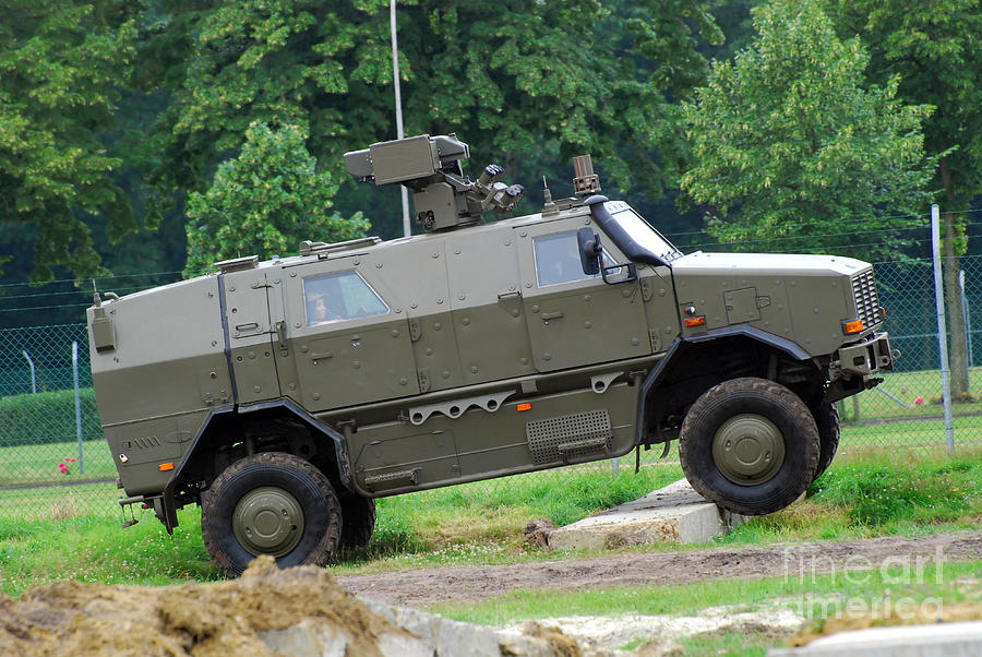 The Dingo 2 Mppv Of The Belgian Army Photograph