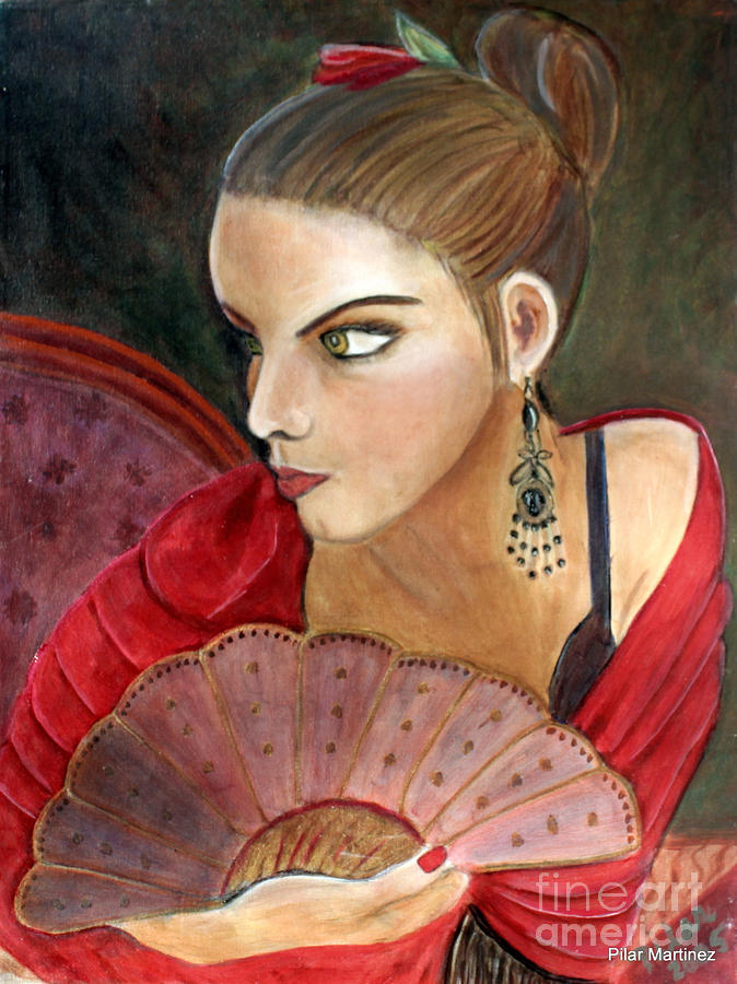 The Flamenco Dancer Painting  - The Flamenco Dancer Fine Art Print