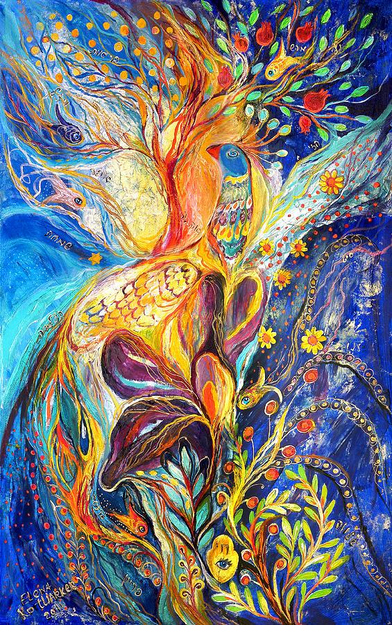 Original Painting - The King Bird by Elena Kotliarker