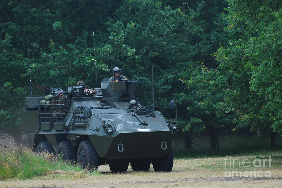 The Pandur Recce Vehicle In Use Photograph