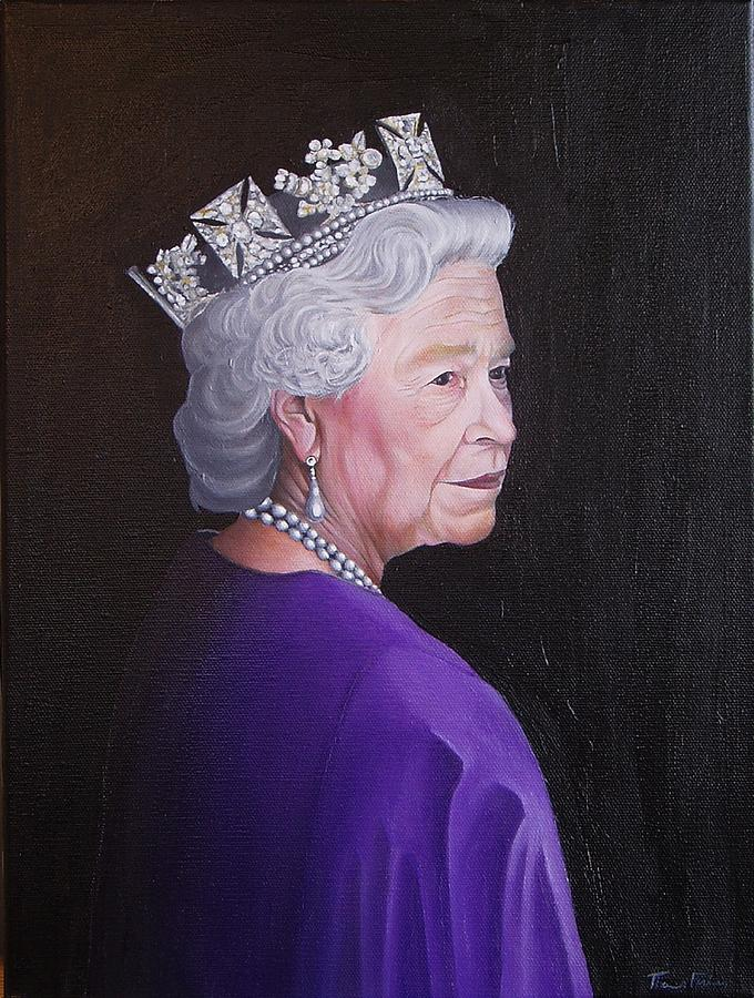 The Queen Painting  - The Queen Fine Art Print