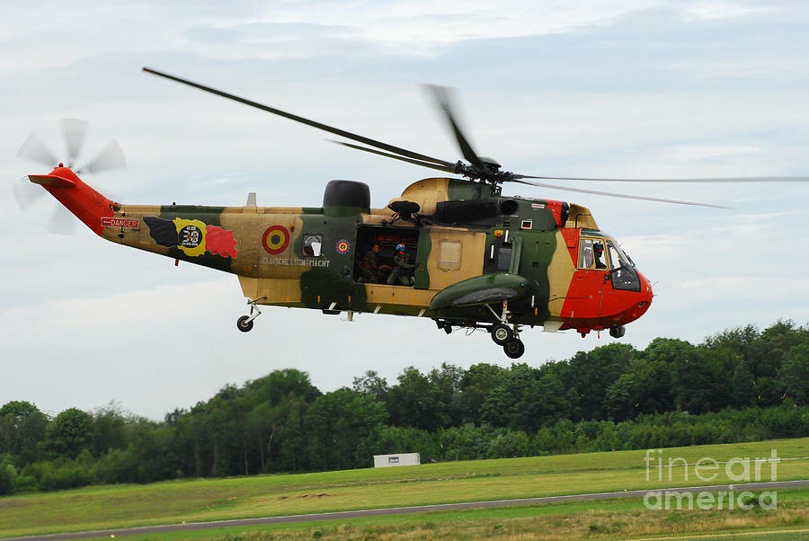 The Sea King Helicopter Of The Belgian Photograph