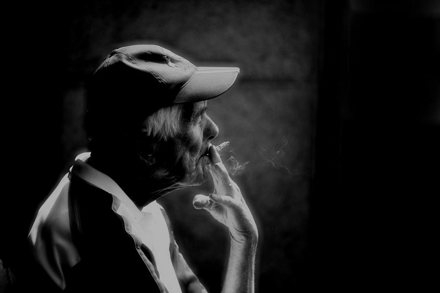 The Smoker Photograph  - The Smoker Fine Art Print