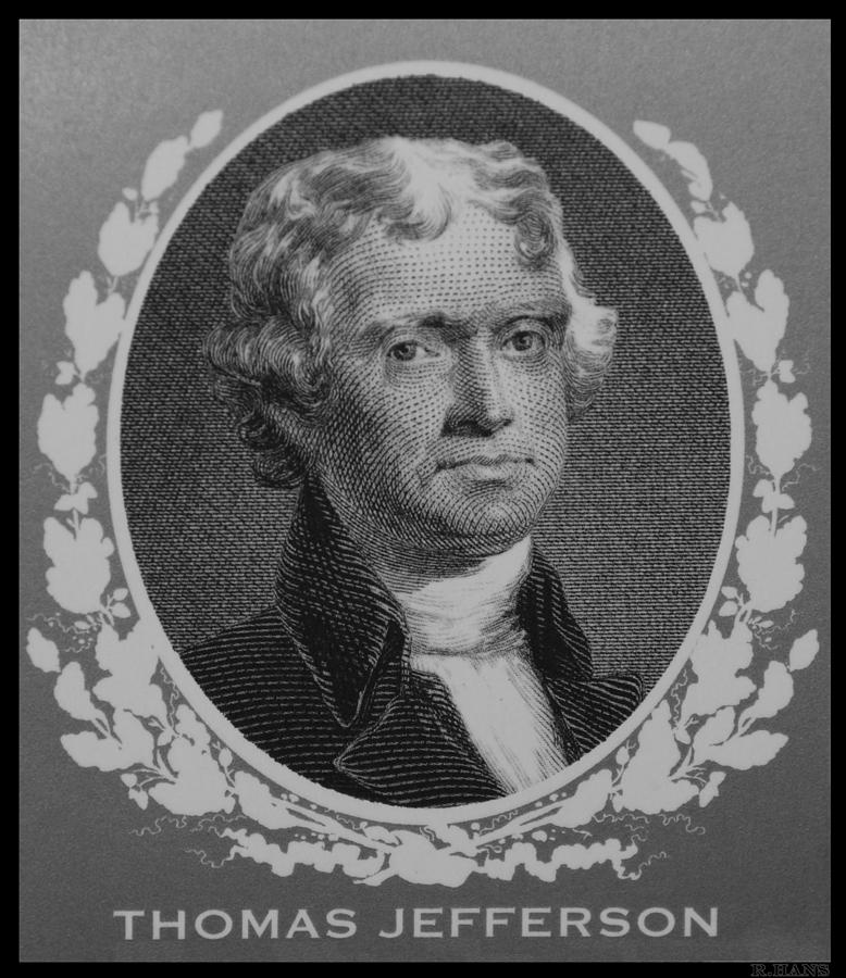 Thomas Jefferson In Black And White Photograph
