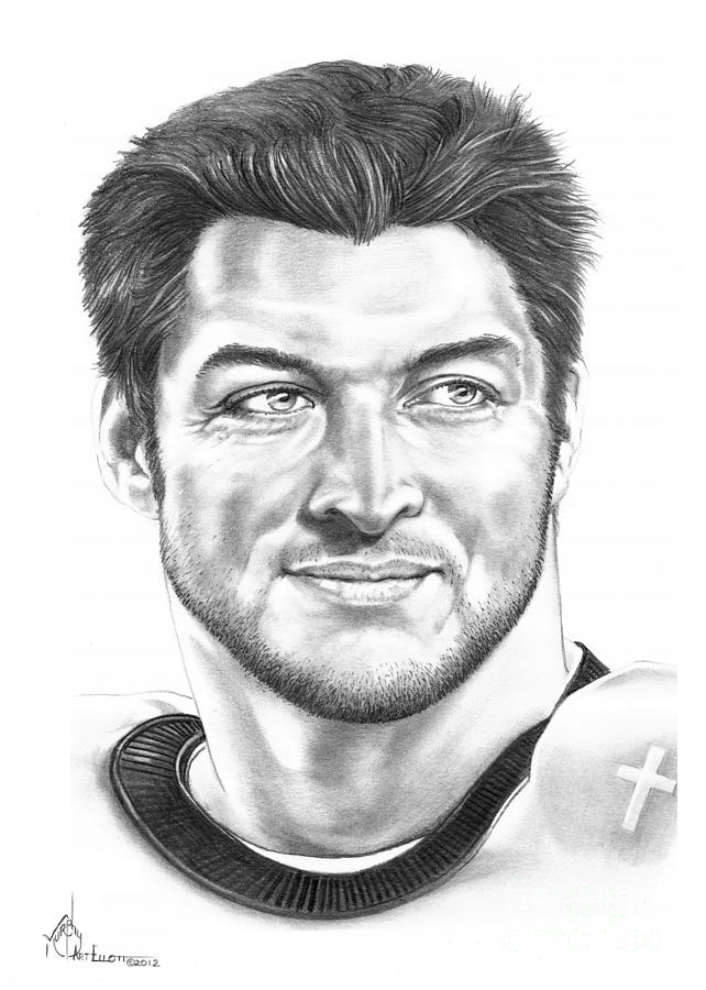 Tim Tebow Drawing  - Tim Tebow Fine Art Print