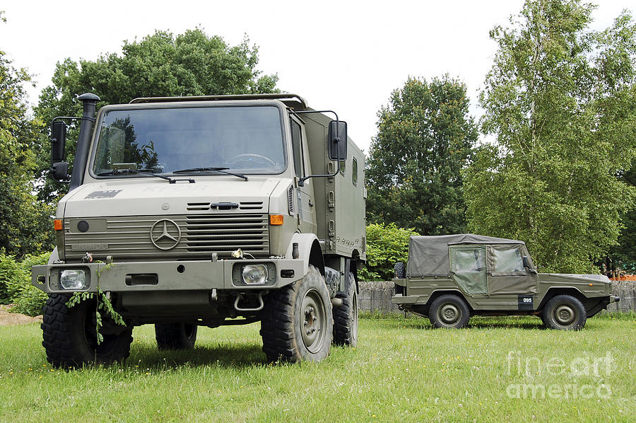 Unimog Truck Of The Belgian Army Photograph
