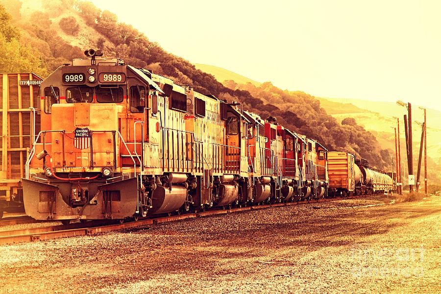 Union Pacific Locomotive Trains . 7d10563 Photograph
