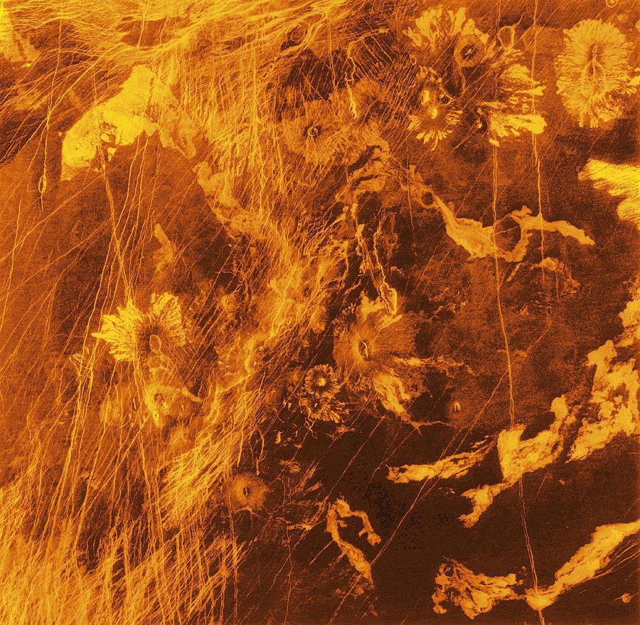 Venus, Synthetic Aperture Radar Map Photograph