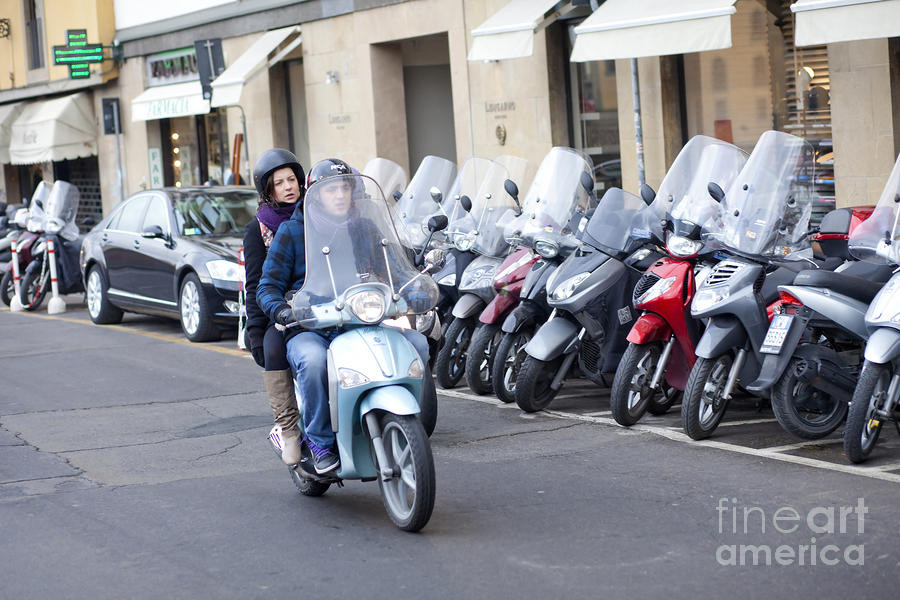 Vespa In Florence Photograph