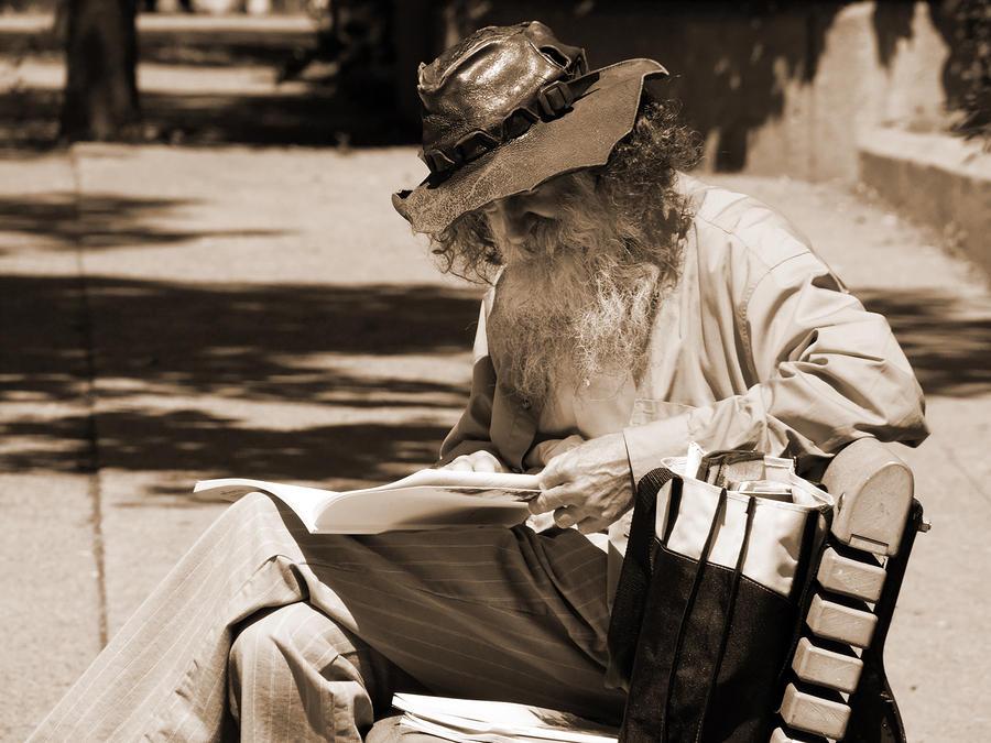 Walt Reading Photograph