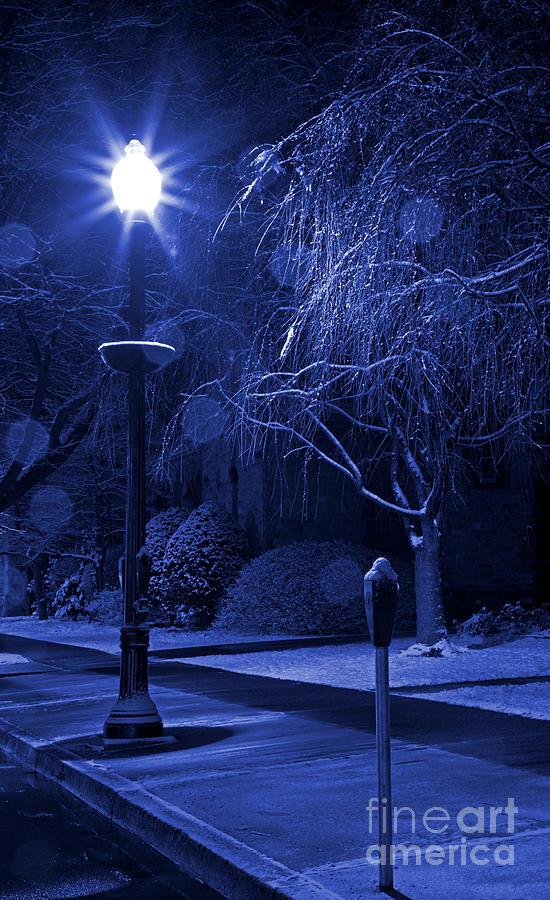 Winter Sidewalk Blues Photograph