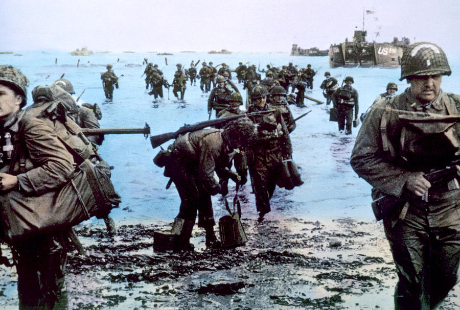 a history of the invasion of normandy on d day in world war two Omaha beach: omaha beach, second beach from the west among the five landing areas of the normandy invasion of world war ii it was assaulted on june 6, 1944 (d-day of the invasion), by units.