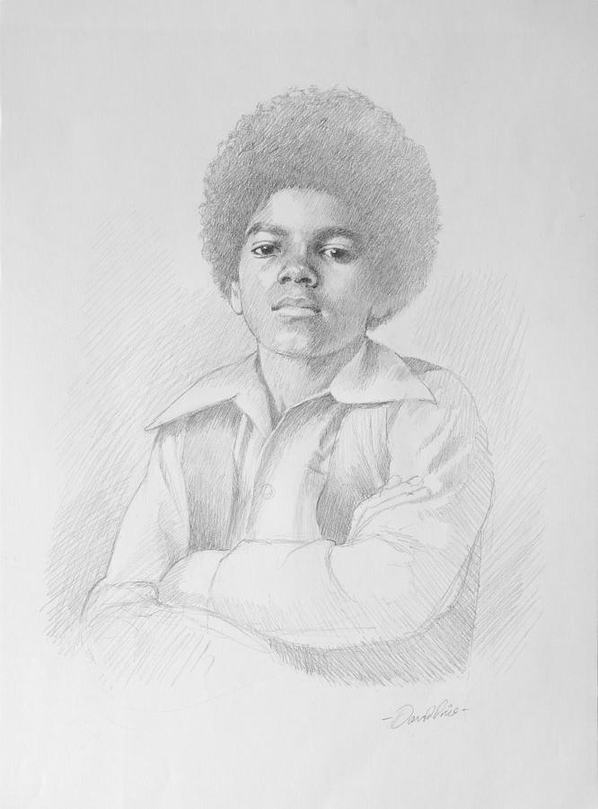 young Michael Drawing  - young Michael Fine Art Print