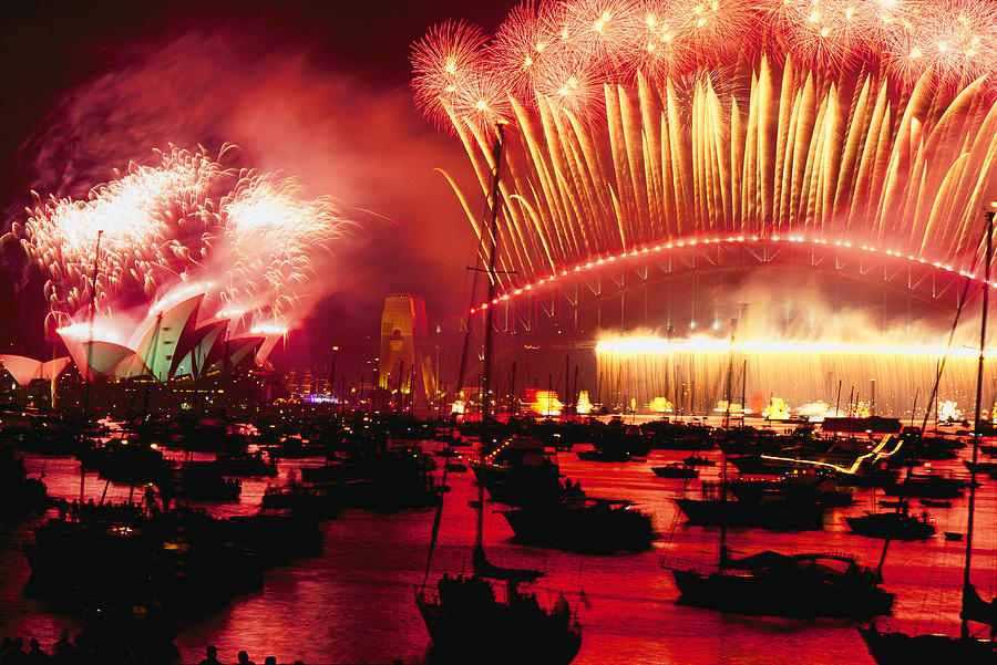20 Tons Of Fireworks Explode Photograph