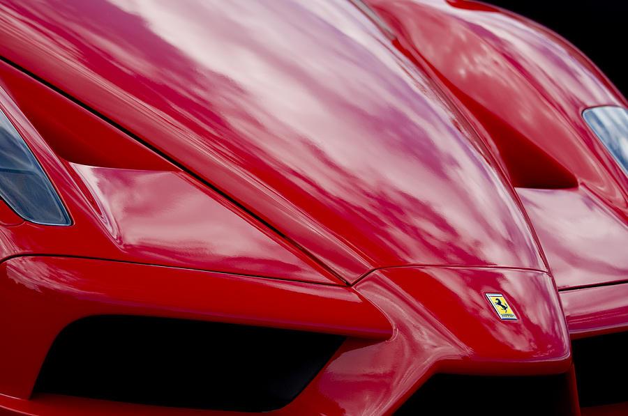 2003 Ferrari Enzo Hood Emblem 2 Photograph By Jill Reger