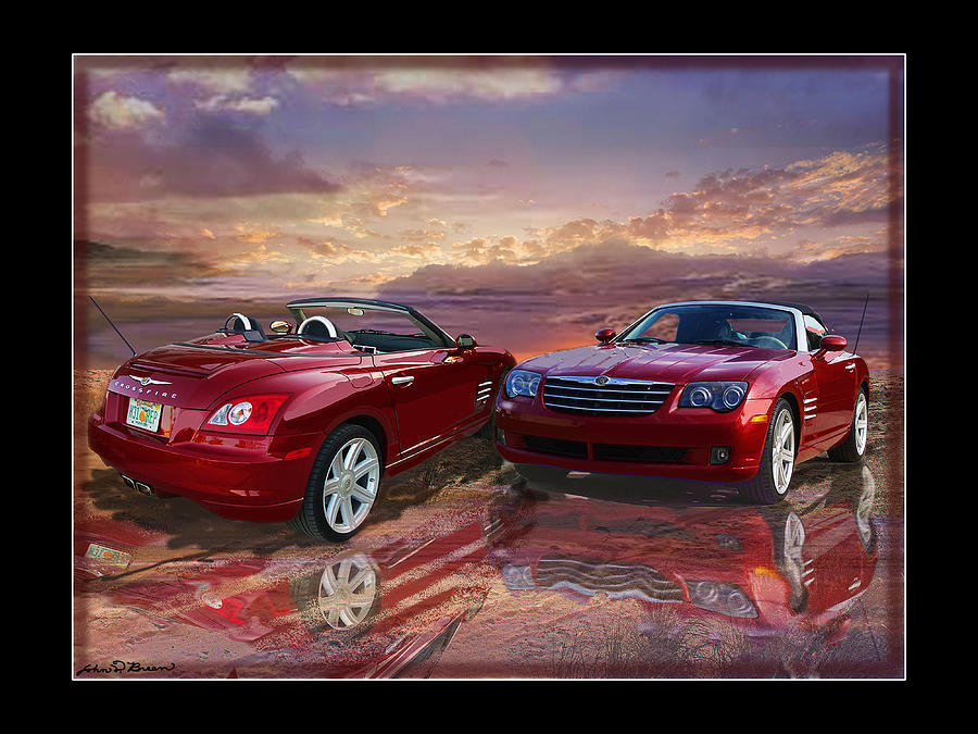 Crossfire Roadster Painting - 2005 Crossfire by John Breen