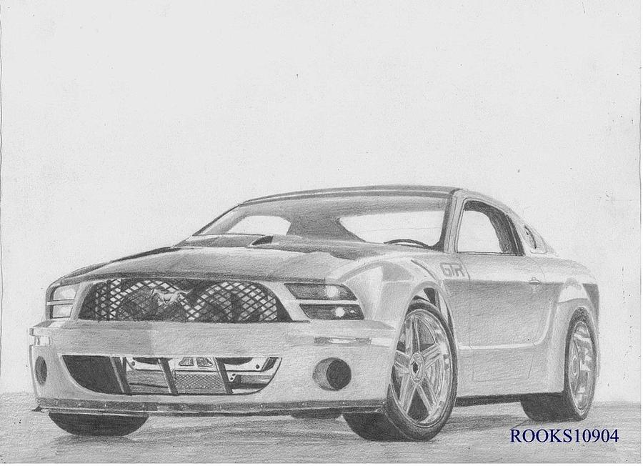 Muscle Cars Mustang Drawings Mustang Car Drawings