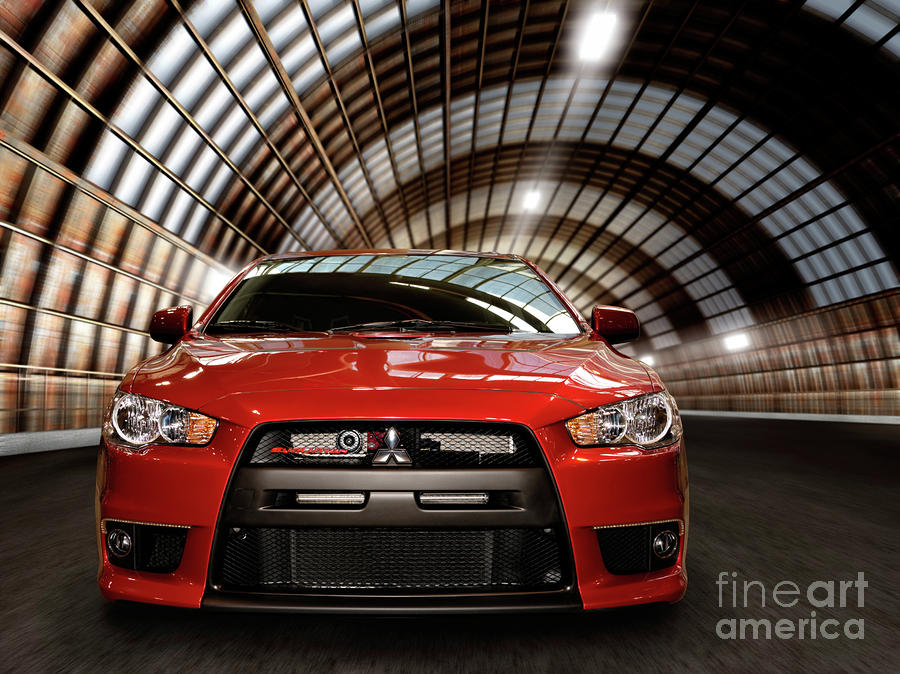 2008 Mitsubishi Lancer Evolution X Photograph  - 2008 Mitsubishi Lancer Evolution X Fine Art Print