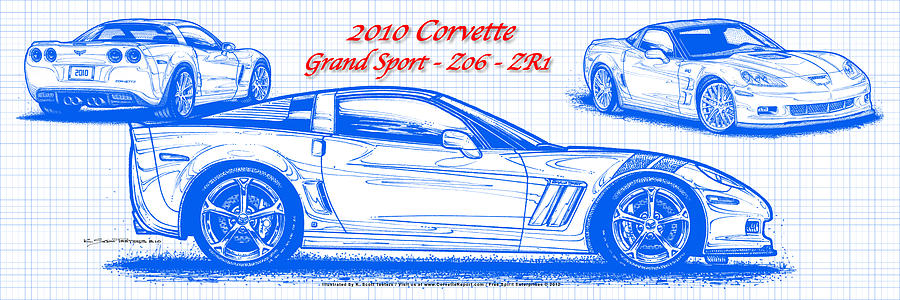 Corvette Z06 Drawing at GetDrawingscom  Free for