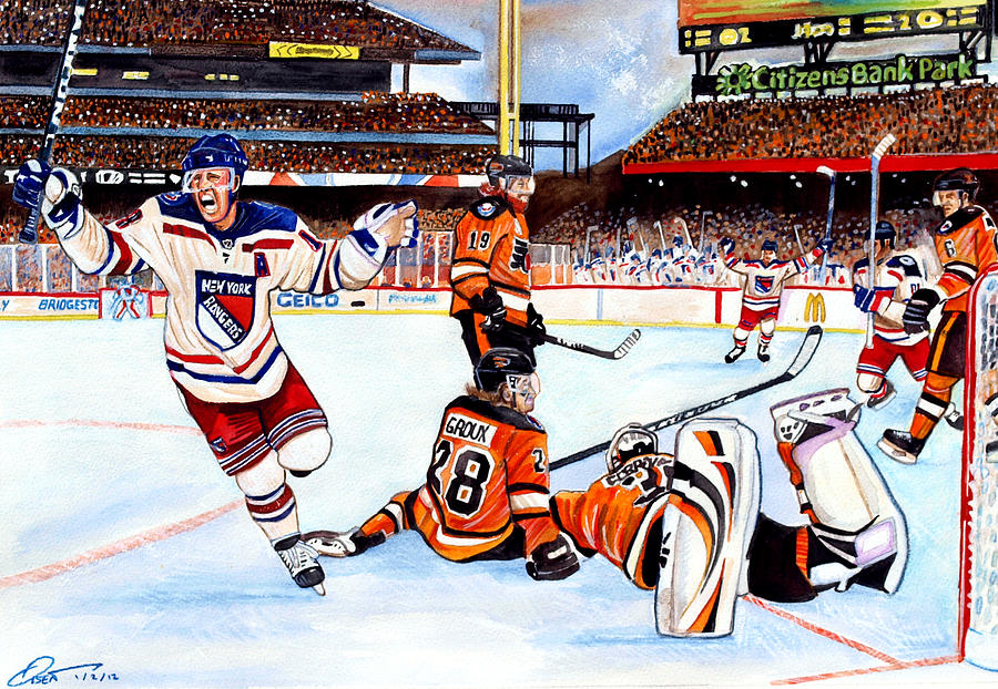 2012 Bridgestone-nhl Winter Classic Painting  - 2012 Bridgestone-nhl Winter Classic Fine Art Print