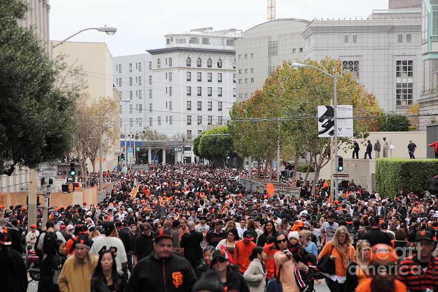 2012 San Francisco Giants World Series Champions Parade Crowd - Dpp0001 Photograph