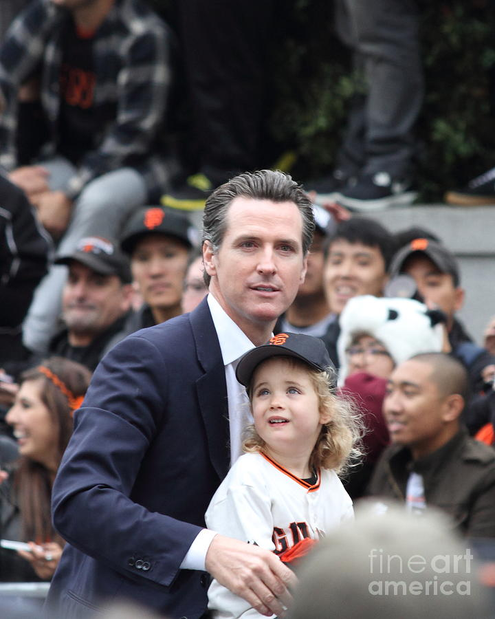 2012 San Francisco Giants World Series Champions Parade - Gavin Newsom - Dpp0005 Photograph