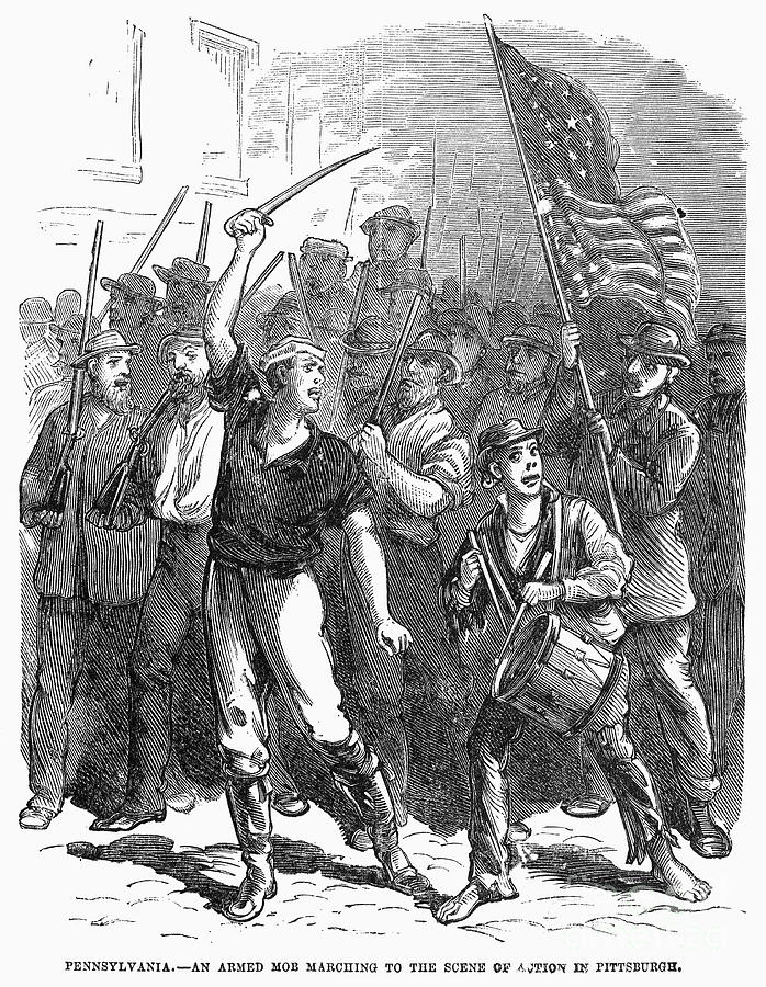 railroad strike of 1877 The railroad strike of 1877, part of a nationwide series of strikes that began on the baltimore and ohio line and spread westward to competing lines, erupted in cleveland when brakemen and.
