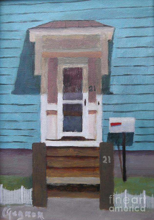 Gloucester Harbor Painting - 21 Wonson St by Claire Gagnon