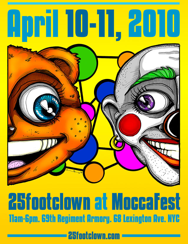 25footclown Moccafest 10 Poster Drawing