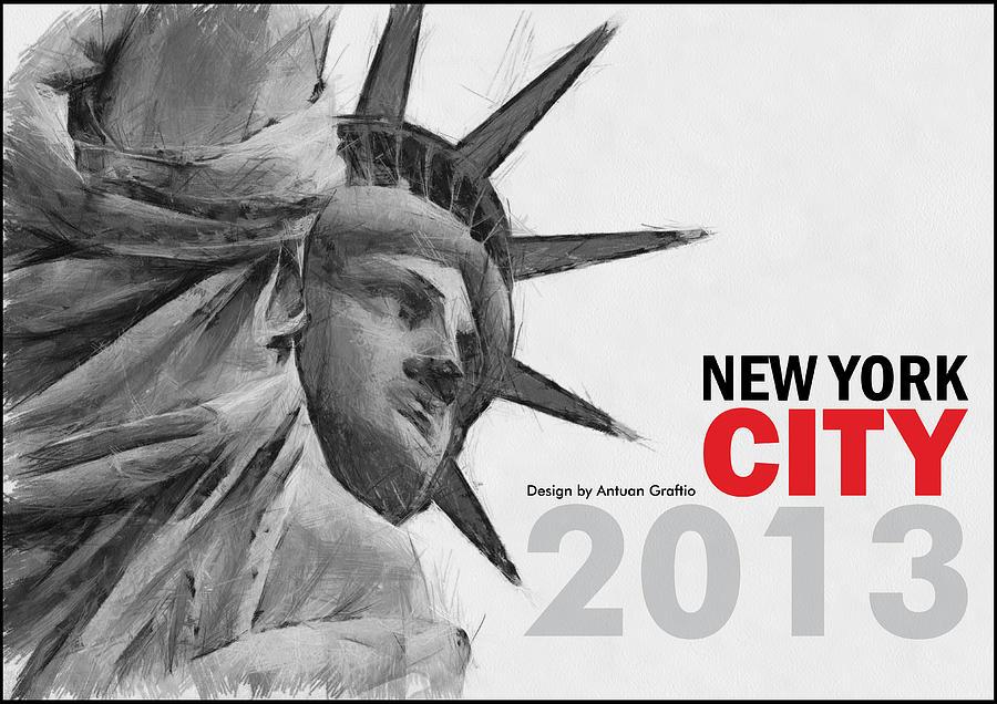 Art Calendar New York : Calendar new york digital art by antuan graftio