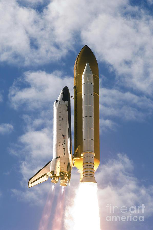 Space Shuttle Atlantis Lifts Photograph by Stocktrek Images