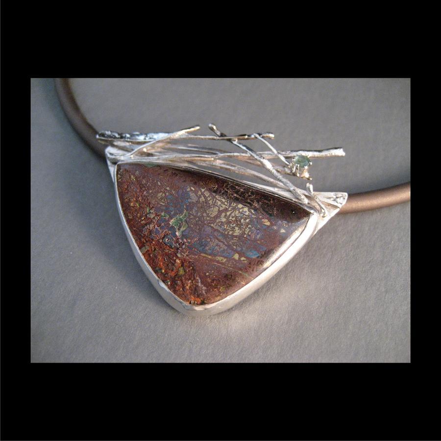 268 Stick Work Rust Stone Jewelry