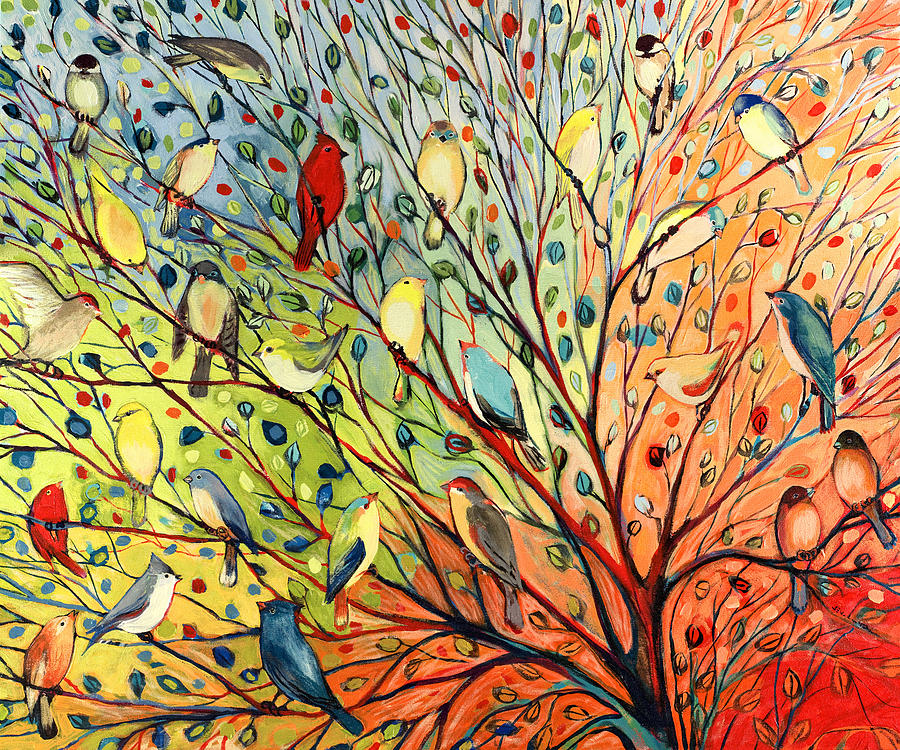27 Birds Painting  - 27 Birds Fine Art Print