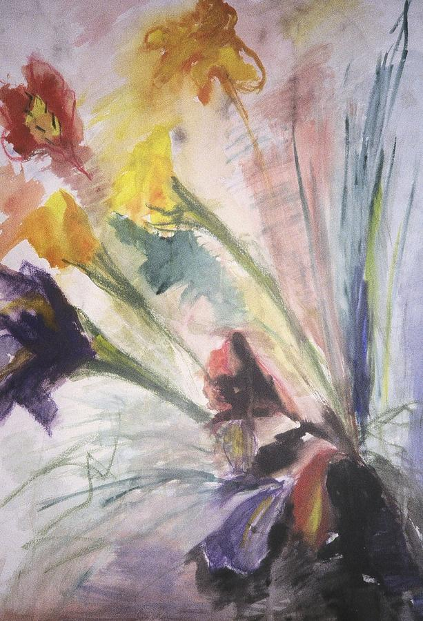 Fine Art Painting - Untitled by Iris Gill