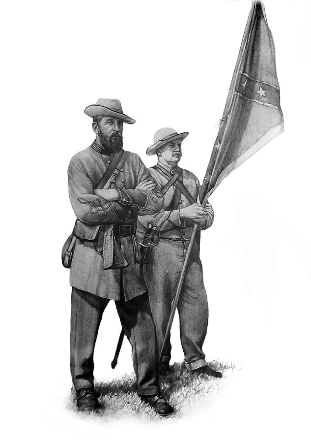 28th Georgia  Company I Drawing  - 28th Georgia  Company I Fine Art Print