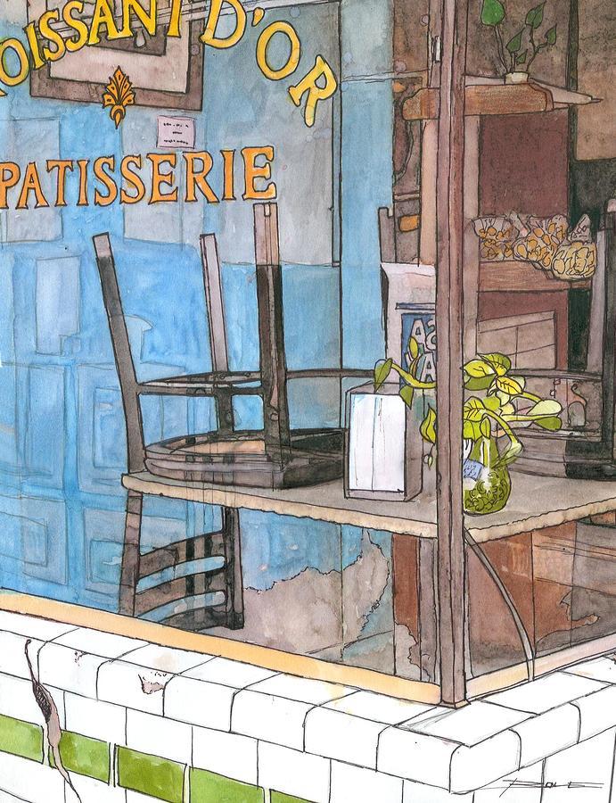 29  Croissant Dor Patisserie Painting